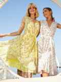 Желтое платье с V-образным вырезом без рукавов 54083, фото 1