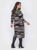 Платье батал свободного кроя с принтом черное 52123, фото 2