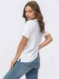 Белая футболка с надписью по полочке 54247, фото 3