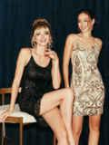 Черное платье на узких бретелях расшитое пайетками 52141, фото 2