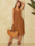 Расклешенное платье с оригинальным вырезом по спинке 54031, фото 2