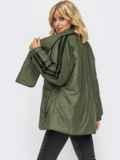 Демисезонная куртка цвета хаки с шарфом 54981, фото 3