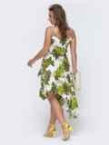 Белое платье с принтом и асимметричной юбкой 48081, фото 3