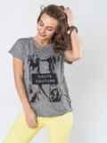 Трендовая серая футболка с принтом 13448, фото 2