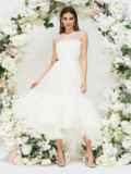 Платье молочного цвета с фатиновым воланом по низу 44752, фото 5