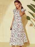 Платье молочного цвета с оригинальным вырезом по спинке 53982, фото 2