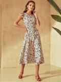Платье молочного цвета с оригинальным вырезом по спинке 53982, фото 3