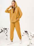 Желтый костюм с брюками и худи с молнией 53733, фото 2