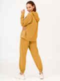 Желтый костюм с брюками и худи с молнией 53733, фото 3
