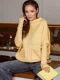 """Желтый джемпер с рукавом """"летучая мышь"""" 52780, фото 2"""