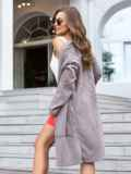 Вязаный кардиган oversize коричневого цвета с карманами 38751, фото 3
