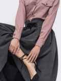 Расклешенная юбка-миди серого цвета 45357, фото 3