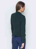 Укороченный жакет с подкладкой и подплечниками зелёный 14438, фото 2