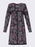 Платье-трапеция из полированной ангоры с принтом черное 52844, фото 7