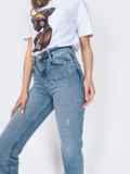 Зауженные джинсы голубого цвета 48907, фото 3