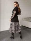 Чёрный жилет на запах с накладными карманами 51782, фото 6