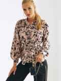 Легкая принтованная блузка из штапеля 54643, фото 3