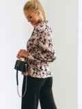Легкая принтованная блузка из штапеля 54643, фото 4