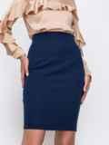 Тёмно-синяя юбка-мини в классическом стиле 49599, фото 2