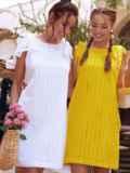 Белое платье из прошвы с открытой спинкой 54343, фото 2