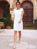 Белое платье из прошвы с открытой спинкой 54343, фото 4