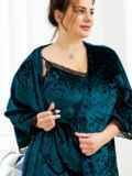 Зеленый комплект для сна из сорочки и халата 53404, фото 2