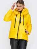 Демисезонная куртка с удлиненной спинкой желтая 45160, фото 4
