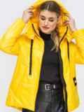 Демисезонная куртка с удлиненной спинкой желтая 45160, фото 6