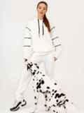 Спортивный костюм из худи с капюшоном и штанами белый 53170, фото 2