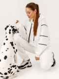 Спортивный костюм из худи с капюшоном и штанами белый 53170, фото 5