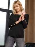 Черный джемпер со спущенной линией плечевого шва 52708, фото 2