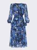 Шифоновое платье-миди голубого цвета с вырезом «капля» 53077, фото 5