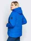 Синяя куртка со вшитым капюшоном и кулиской 20217, фото 3